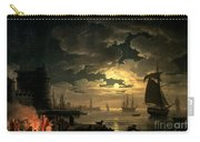 The Harbor Of Palermo Carry-all Pouch by Claude Joseph Vernet