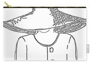 The Hat Lady - Digital Sketch Carry-all Pouch