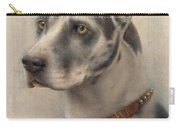 The Head Of A Doberman Carry-all Pouch by Wilhelm Schwar