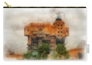 The Hollywood Tower Hotel Disneyland Photo Art 01 Carry-all Pouch