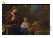 The Holy Family In Egypt Carry-all Pouch by Charles Le Brun