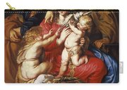 The Holy Family With St Elizabeth St John And A Dove Carry-all Pouch
