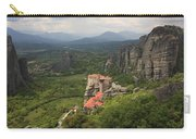 The Holy Monastery Of Rousanou Meteora Greece  Carry-all Pouch