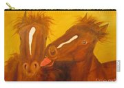 The Horse Kiss - Original Oil Painting Carry-all Pouch
