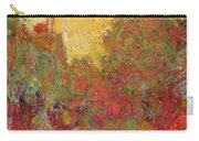 The House Seen From The Rose Garden Carry-all Pouch by Claude Monet