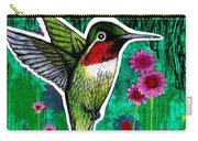 The Hummingbird Carry-all Pouch by Genevieve Esson