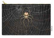 The Hunter And Its Pray - A Gold Fly Caught By A Gold Spider Carry-all Pouch