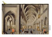 The Interior Of A Gothic Church Carry-all Pouch by Hendrik the Younger Steenwyck