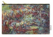 The Japanese Bridge At Giverny Carry-all Pouch by Claude Monet