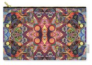 The Joy Of Design Mandala Series Puzzle 1 Arrangement 3 Carry-all Pouch by Helena Tiainen