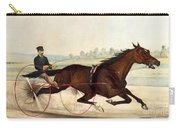 The King Of The Turf Carry-all Pouch by Currier And Ives