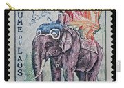 The King's Elephant Vintage Postage Stamp Print Carry-all Pouch