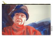 The Lady In Red Carry-all Pouch by Kathy Braud