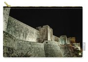 The Landside Walls Of Dubrovnik At Night No1 Carry-all Pouch