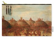 The Last Race. Mandan O-kee-pa Ceremony Carry-all Pouch