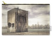 Apocalypse Brooklyn Waterfront - Brooklyn Ruins And New York Skyline Carry-all Pouch by Gary Heller