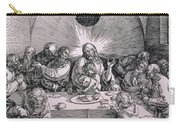 The Last Supper From The 'great Passion' Series Carry-all Pouch by Albrecht Duerer