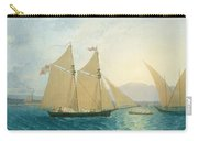 The Launch La Sociere On The Lake Of Geneva Carry-all Pouch by Francis  Danby