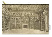 The Library, Engraved By Godfrey Carry-all Pouch