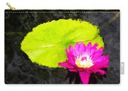 The Lily Pad And Flower... Carry-all Pouch