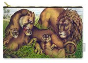 The Lion Family Carry-all Pouch