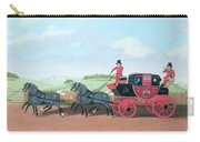 The Liverpool And London Royal Mail Coach, 1812 Oil On Canvas Carry-all Pouch