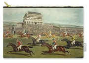 The Liverpool Grand National Steeplechase Coming In Carry-all Pouch by Charles Hunt and Son