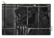 The Look Of Captivity Black And White Carry-all Pouch