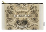 The Lords Prayer Carry-all Pouch by Bill Cannon