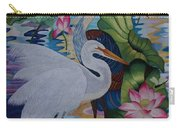 The Lotus Pond Hand Embroidery Carry-all Pouch