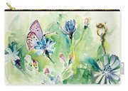 The Love Between Butterfly And Chicory Carry-all Pouch