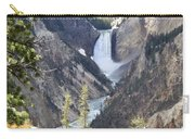 The Lower Falls Of Yellowstone River Carry-all Pouch