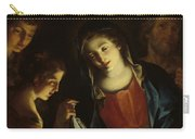 The Madonna Adoring The Infant Christ Carry-all Pouch by Pietro Antonio Rotari
