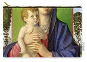 The Madonna Of The Trees Carry-all Pouch by Giovanni Bellini
