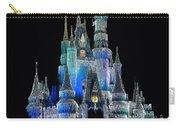 The Magic Kingdom Castle In Frosty Dark Blue Walt Disney World Carry-all Pouch