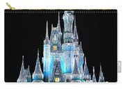 The Magic Kingdom Castle In Frosty Light Blue Walt Disney World Carry-all Pouch