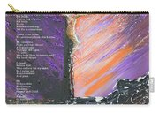 The Man On The Cross With Poem Carry-all Pouch