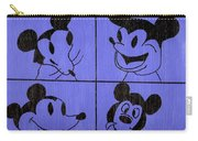 The Many Faces Of Mickey Carry-all Pouch