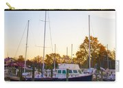 The Marina At St Michael's Maryland Carry-all Pouch by Bill Cannon