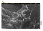 The Mariner As His Ship Is Sinking Sees The Boat With The Hermit And Pilot Carry-all Pouch by Gustave Dore