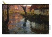 The Mill Stream Carry-all Pouch by Fritz Thaulow