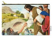 The Miracles Of Jesus  Making The Lame Man Walk Carry-all Pouch