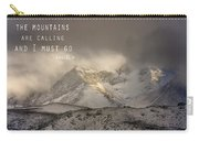 The Mountains Are Calling And I Must Go  John Muir Vintage Carry-all Pouch