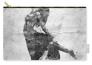 The Music Rushing Through Me Black And White Carry-all Pouch
