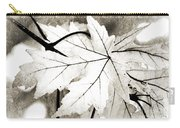 The Mysterious Leaf Abstract Bw Carry-all Pouch by Andee Design