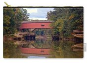 The Narrows Covered Bridge 4 Carry-all Pouch by Marty Koch