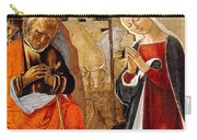 The Nativity With The Annunciation To The Shepherds In The Distance Carry-all Pouch