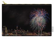 The New York City Skyline Sparkles Carry-all Pouch by Susan Candelario
