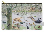 The Odd Duck Acrylic On Canvas Carry-all Pouch