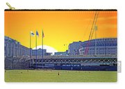 The Old And New Yankee Stadiums Side By Side At Sunset Carry-all Pouch